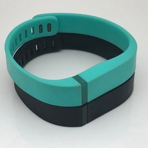 Fitbit Flex Replacement Band Lot of 2 Black Green